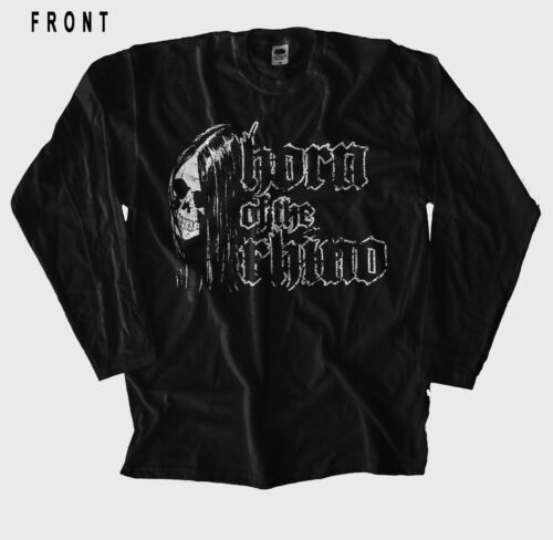 manches longues-Tailles Horn Of The Rhino-Metal Band T-shirt noir S à XXL