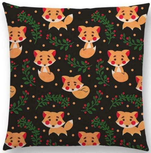 Soft Cute Animals Cushion Cover Cotton Linen Waist Throw Pillow Case Sofa Home