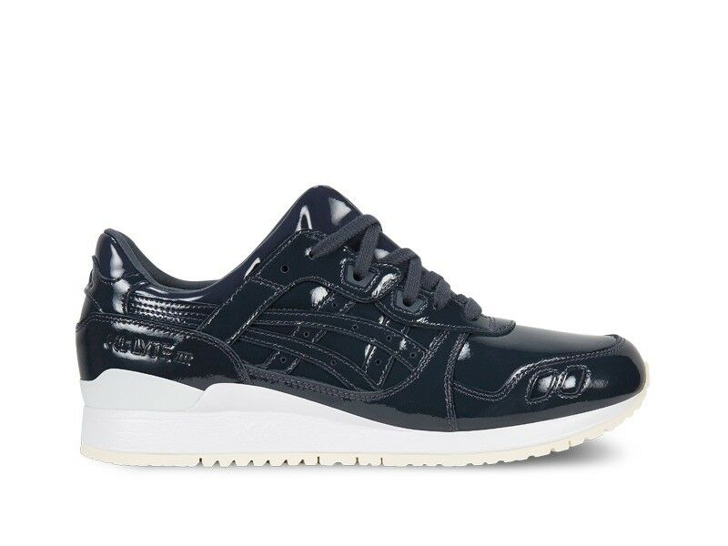 Men's Asics Gel Lyte III Navy Patent Leather Athletic Fashion Sneaker H7H1L 5858
