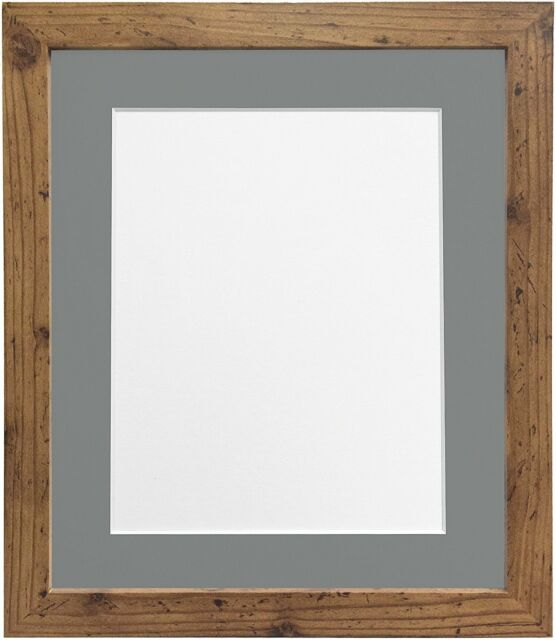 Frames by Post H7 Picture Photo Frame Mount A3 Rustic Oak With Dark ...
