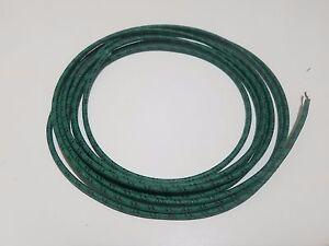 5 feet Vintage Braided Cloth Covered Primary Wire 16 gauge 16ga ga Black w// Red