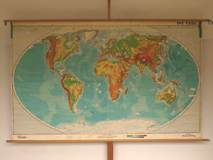 School Wall Map Nice Old World Map Earth 241x149cm Vintage World Map ...