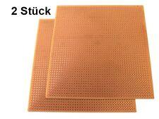 2 Stück Leiterplatte Platine 2,54 mm Lochraster 115 x 115 mm Experimentier Löten