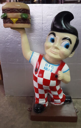 Aluminum Bob's Big Boy Man Cave Statue Advertising Sign Garage Gas Oil Hot Rod
