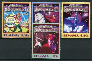 Romania-2017-MNH-Bucharest-Circus-4v-Set-Clows-Horses-Cultures-Stamps