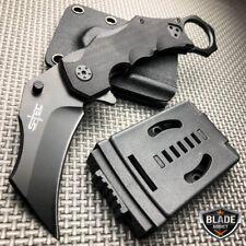 Tactical Karambit Claw Folding Pocket Knife w/ Hard Sheath Quick Release NEW