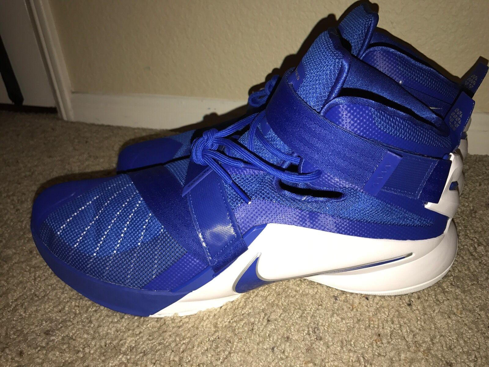6e1f93cf0413 DS Nike Lebron Soldier IX IX IX 9 TB Men Basketball Shoes Blue White 813264