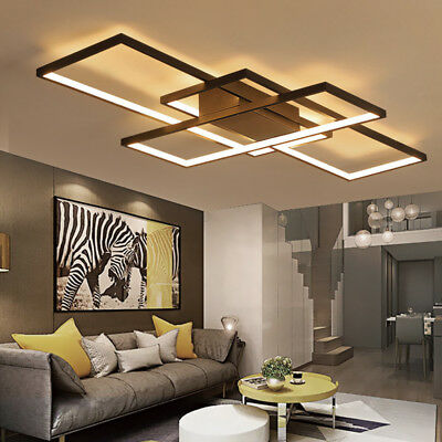 Modern Style Acrylic Led Ceiling Light Square Living Room Lighting Chandelier Ebay