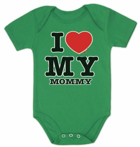 I Love My Mommy Baby Bodysuit Set BOY GIRL Daddy Shower Gift PRESENT BABYGROW
