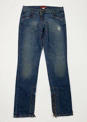 Liu Jo Jeans Donna Usato Slim Straight Denim Destroyed W31 Tg 45 Boyfriend T5612