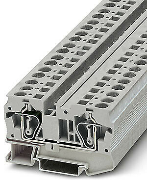 PHOENIX Zugfeder-Durchgangsklemme 6qmm  ST6 grau Klemmenbreite 8,2mm