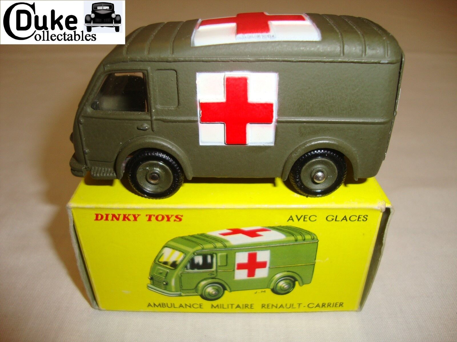 French dinky 820 80F renault goelette ambulance militaire-nr mint in orig box