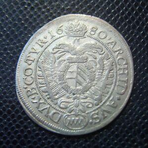 AUSTRIA-LEOPOLD-I-SILVER-6-KREUZER-1680-MM