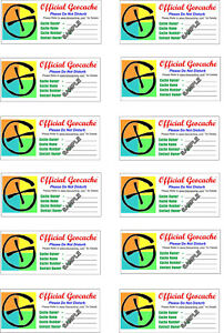 Practical-Geocaching-12-Official-Geocache-Labels-GX-Logo-Free-Freight