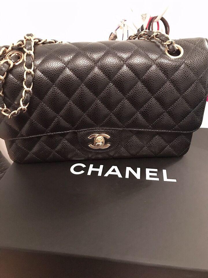 Skuldertaske, Chanel, læder