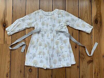 Baby Girls Long Sleeve Bodysuit Peter Pan Collar Dress Navy//White Size 0//1//2