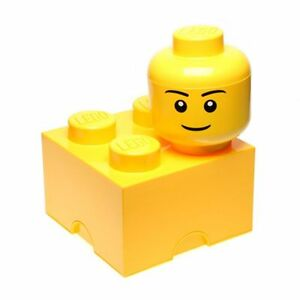 LEGO-STORAGE-BRICK-4-YELLOW-BLOCK-100-OFFICIAL-KIDS-NEW-FREE-P-P