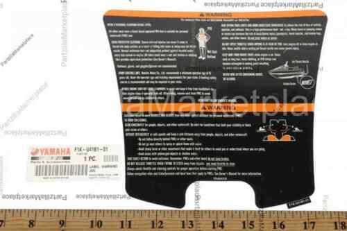 Yamaha F1K-U41B1-01-00 LABEL  WARNING JDC