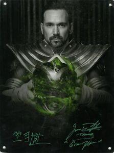 Jason-David-Frank-Signed-9x12-Metal-Print-Power-Rangers-034-Tommy-034-JSA-COA