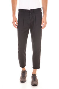 Pantaloni Cotone 1 Uomo Jeans Pj5369l3203535 Daniele Trouser Alessandrini Nero BqC1rPwBn