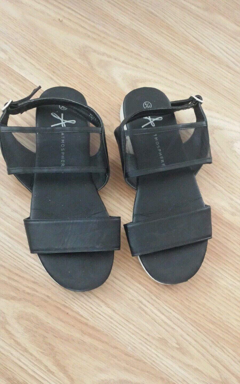 Women's Primark Summer Black Flat Block Mesh Strap Summer Primark Sandals Size 4 76725f