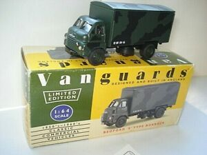 Vanguards-Bedford-039-S-039-Type-Army-Box-Van-Ltd-Edition-with-Certificate-Card