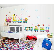 Animal Wall Sticker Monkey Giraffe Tree Train Nursery Baby Kids Room Decal Decor