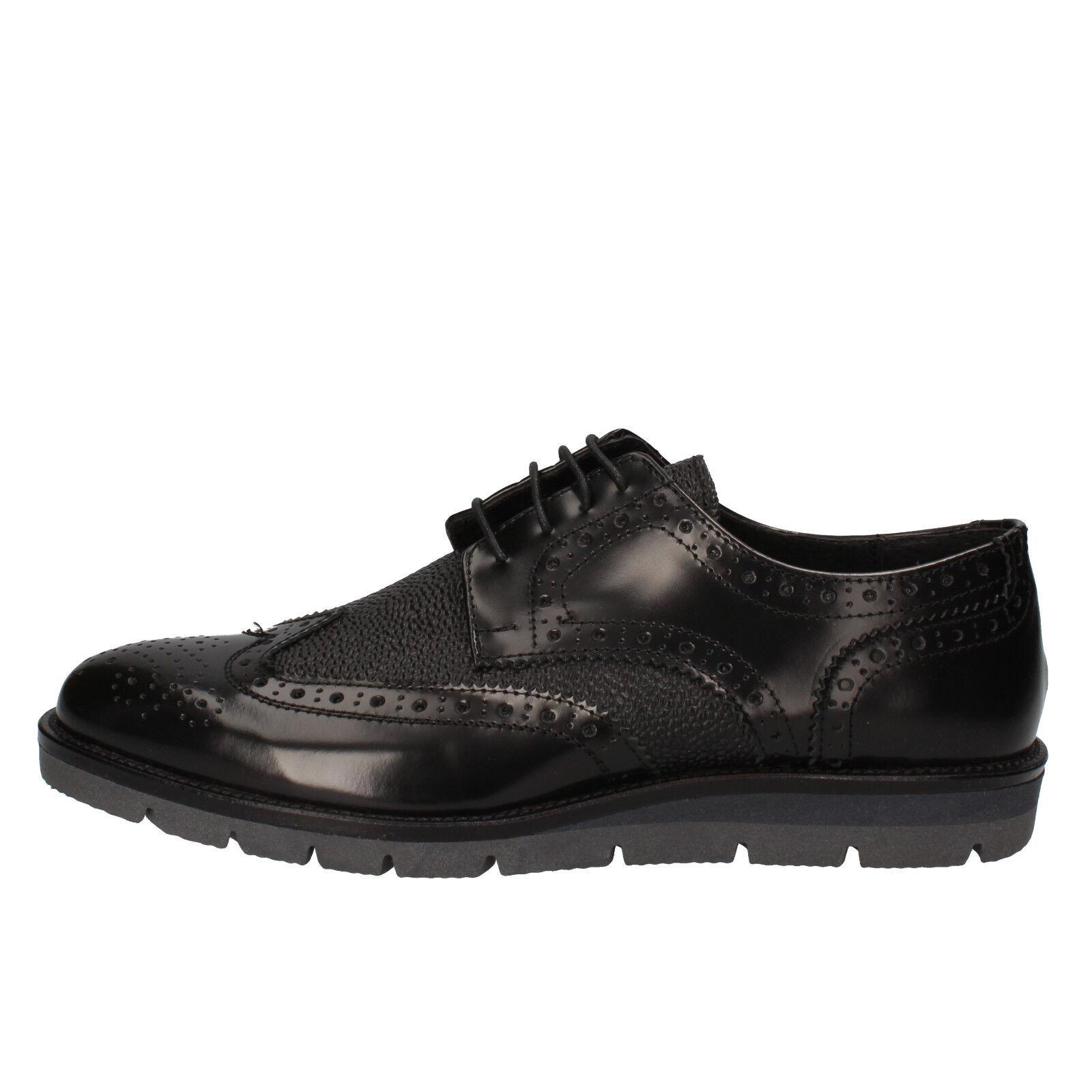 men's shoes J BREITLIN 9 () elegant black shiny leather AD15-D