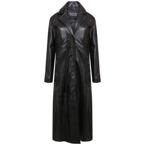 pelle da gotica donna interamente in Cappotto vera vintage donna da realizzato dY5f0W