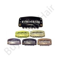 10 x 2.8 cm High quality Hair Extensions Snap Weave Weft Clips W/ Silicone Grip