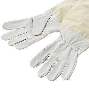 XXL-Goatskin-Protective-Beekeeping-Gloves-Bee-Keeping-amp-Vented-Long-Sleeve-EBTY