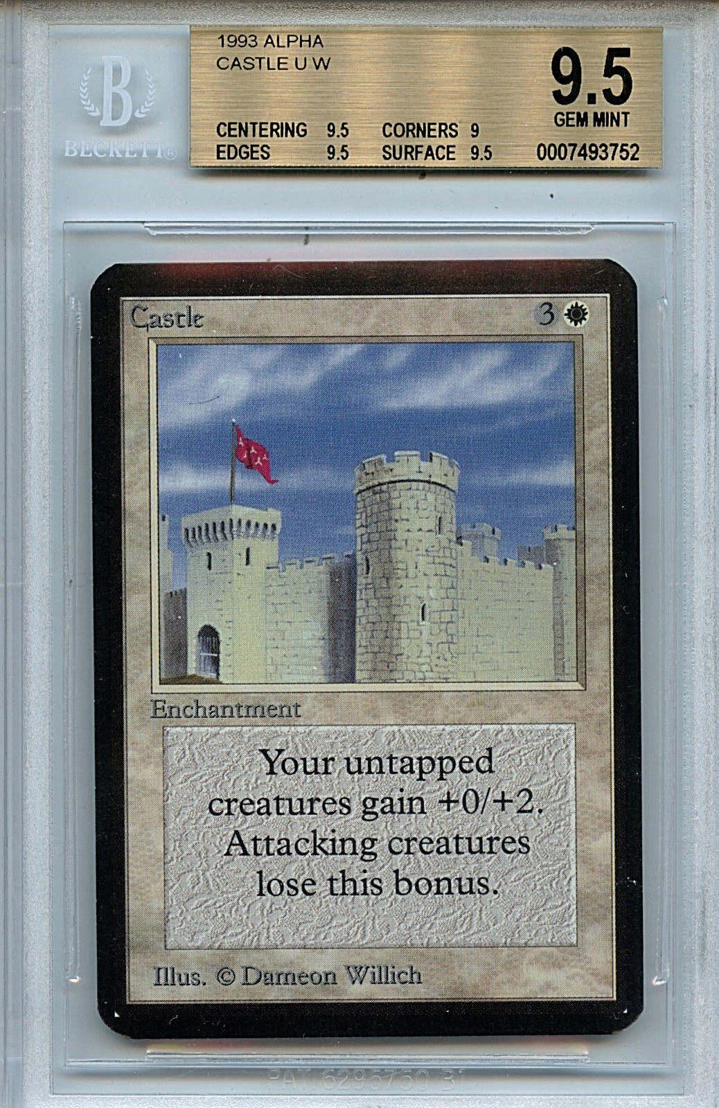MTG Alpha Castle BGS 9.5 Gem Mint Magic Card WOTC 3752 Amricons