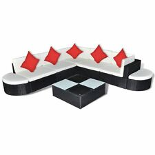 8PC Outdoor Patio Sofa Set Sectional Furniture PE Wicker Rattan Deck Couch Black