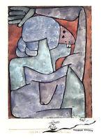 Kunstpostkarte - Bauhaus  -  Paul Klee: Verfluchende Frau