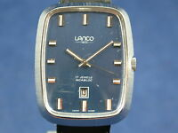 Vintage Lanco Gents Mechanical Watch 1960s Brand Old Stock