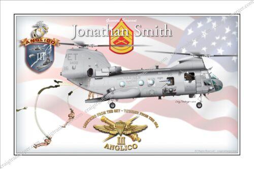 Airborne,CH46,Sea Knight,ANGLICO,Recon,Air Delivery,Special Tactics,Rigger,USMC