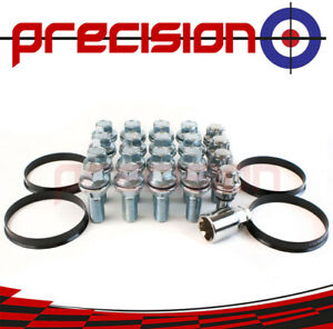 16-Chrome-Wheel-Nuts-amp-Locks-for-BMW-to-Renault-Trafic-2001-2017