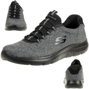 Details zu Skechers SUMMITS FORTON Herren Fitnessschuhe Sneaker Memory Foam Schwarz