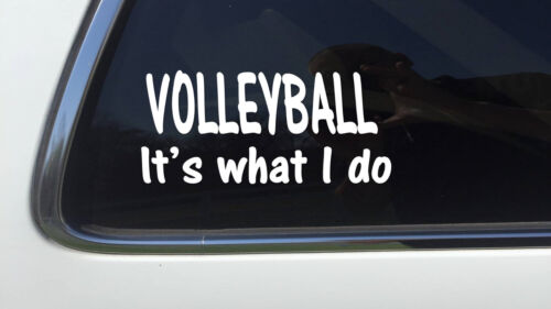"""ThatLilCabin volleyball it/'s what i do AS146 8/"""" girls sports team decal"""