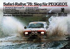 Peugeot 504 Coupé Rallye - Poster Plakat Affiche A1 (Repro)