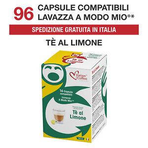 96 Cialde Capsule Tè The al Limone compatibili Lavazza A Modo Mio