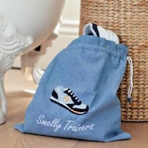 350c08865fd4 Image is loading Smelly-Trainers-Gym-Shoe-Bag-Lined-School-Drawstring-