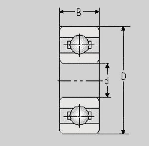 Miniatur Kugellager R1212 ZZ 12,7x19,02x3,95  R 1212 ZZ