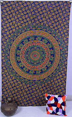 Indian Twin Mandala Tapestry Boho Bedspread Hippy Wall Hanging Decor Table cover