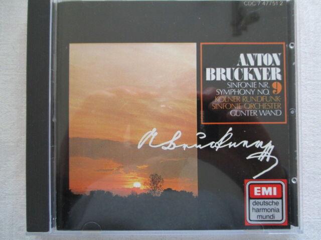 Bruckner: Sinfonie Symphony No. 9 - Günter Wand, WDR - EMI CD 1979 GERMANY
