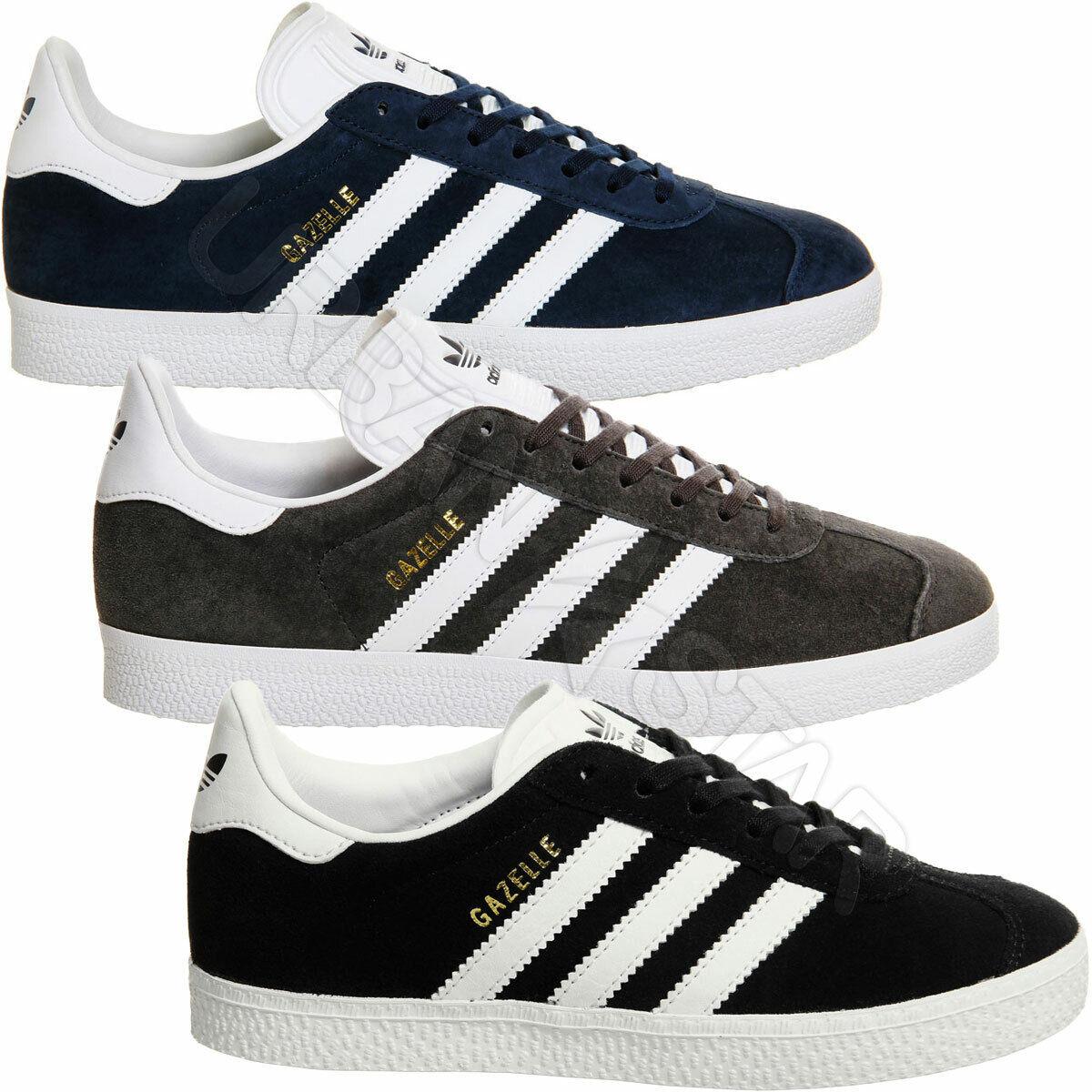 Adidas Originals Gazelle Zapatillas Hombre Cuero Gamuza Estilo Retro Zapatos Con Cordones
