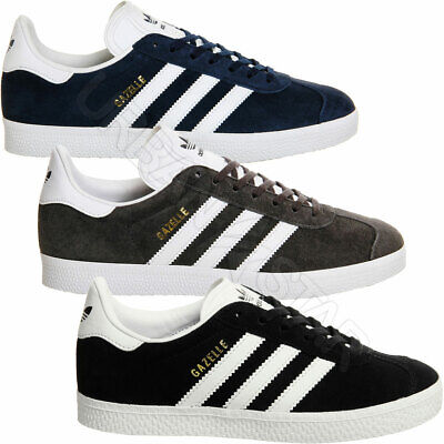 Details about Adidas Originals Mens Gazelle Trainers Luxe Suede Leather Classic Stripe Shoes
