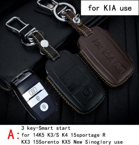 Genuine Leather CAR KEY CASE For KIA 14K5 K3//S K4 15SPORTAGE R KX3 15SORENTO KX5