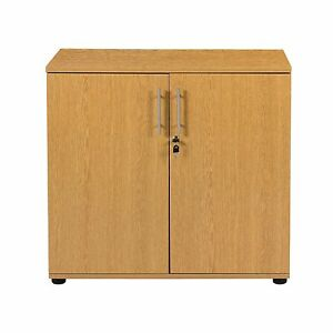 Image Is Loading Office Storage Beech Cupboard Filing Cabinet Desk Height