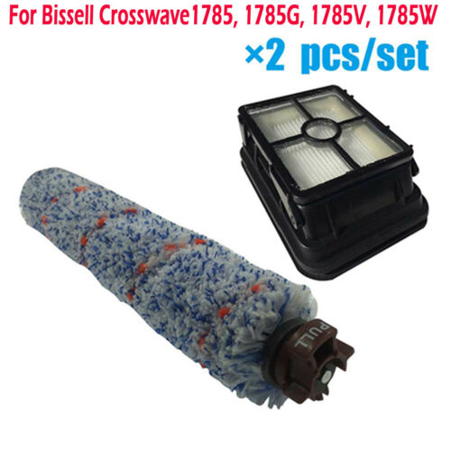 Multi-Surface Brush Roll and Filter for Bissell Crosswave 1785G//V//W 1785 Series